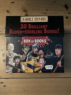 Horrible Histories Blood-curdling Box of Books by Terry Deary / 20 Books