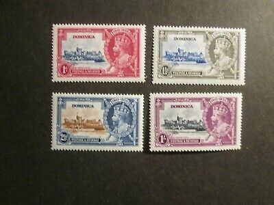 Dominica 1935 Silver Jubilee set Mint lightly hinged