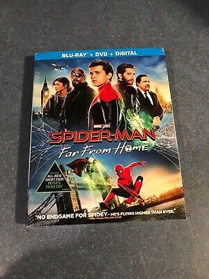 Spider-man: Far From Home (Blu-ray, 2019, 2 Discs) NO DIGITAL COPY NEVER WATCHED