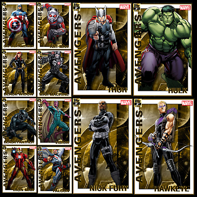 Topps Marvel Collect Card Trader Assemble for  Avengers 2nd Printing Set + Award
