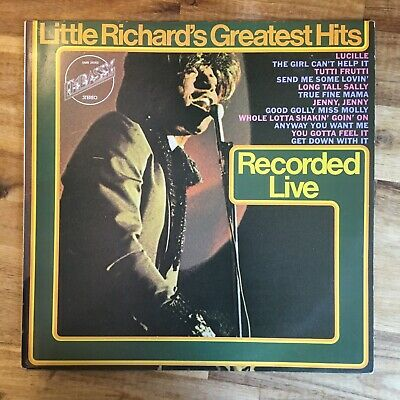 LITTLE RICHARD - GREATEST HITS RECORDED LIVE LP z