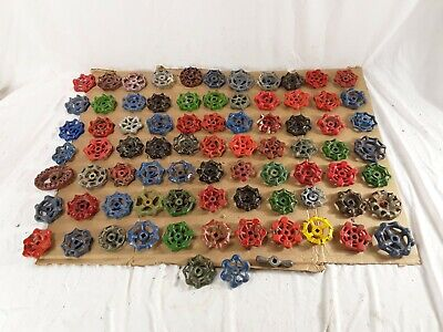 Lot of 80 Vintage Metal Water Faucet Handles Knobs Valves See Pictures