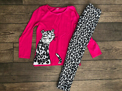 Gymboree 2 Piece Outfit Girls Size 7-8 NWT Leopard Winter Pink