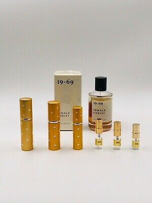 1969 19-69 FEMALE CHRIST 2ml 3ml 5ml 10ml Parfum EDP Spray samples NICHE LATEST