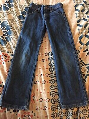 WRANGLER boys size 8slim jeans 13MWZBP 100% cotton blue denim
