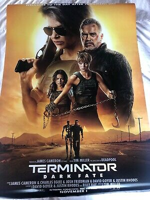 Terminator Dark Fate Theatrical Poster DS 27x40 near mint Brand New Never Used