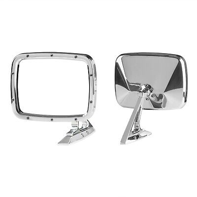 Universal Billet GM Truck Mirrors 73-87 Square Body Billet Rides Polished (Pair)
