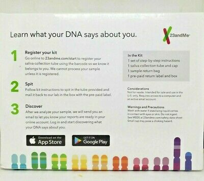 23andMe DNA Test  Ancestry Service Prepaid Kit New Sealed -Fast Free Shipping