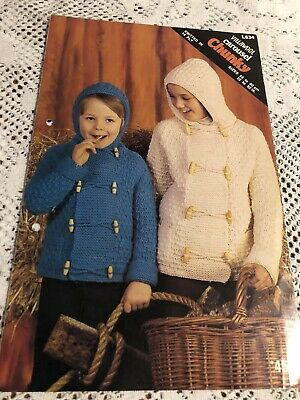 Vintage Villawool Knitting Patterns No L634 Kids Jackets In 14 Ply