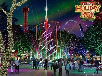 Two (2) Six Flags Tickets 2019 HOLIDAY in PARK Good till 12/31 (1/02 or 1/05)