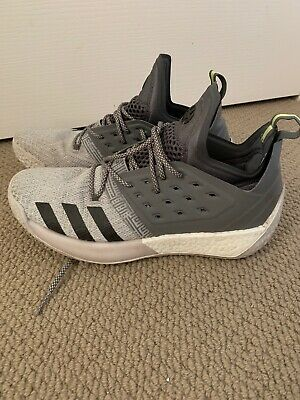 Adidas Harden Vol. 2 Grey White Black Mens Basketball Shoes Size US 11.5