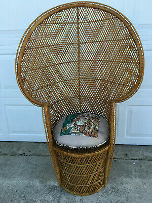 Cool Pair His Hers 1960S 70S Peacock Chair Throne Wicker Rattan Gmtry Best Dining Table And Chair Ideas Images Gmtryco
