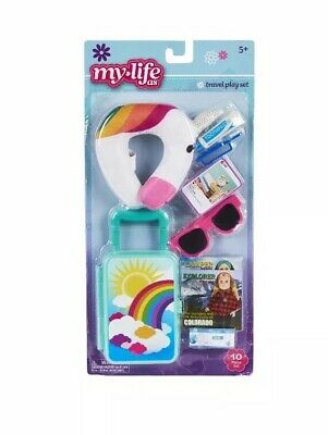 "My Life As Travel Time Play Set For 18"" Dolls 10 Pieces Unicorn NEW"