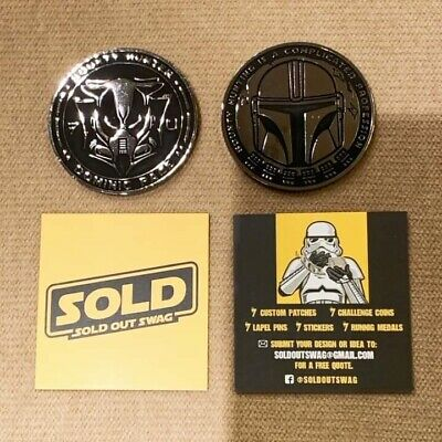 Star Wars Bounty Hunter Coin With Dominic Pace Autograph