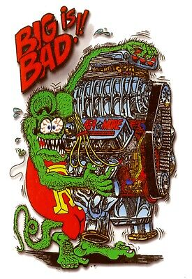 """2x pieces Bad News Ed Roth sticker decal hot rod rat fink old school 3.75/"""""""