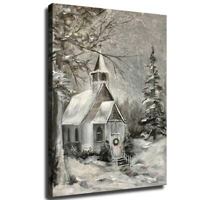 """12""""x18""""Christmas HD Canvas poster prints Painting Home Decor Picture Wall art"""