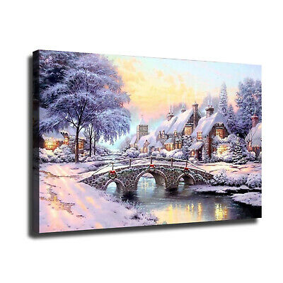 """12""""x18""""Christmas scenery HD Canvas prints Painting Home Decor Picture Wall art"""