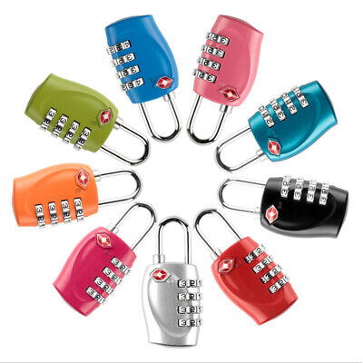 4 Dial TSA Approved Combination Luggage Padlock Suitcase Security Lock Hot