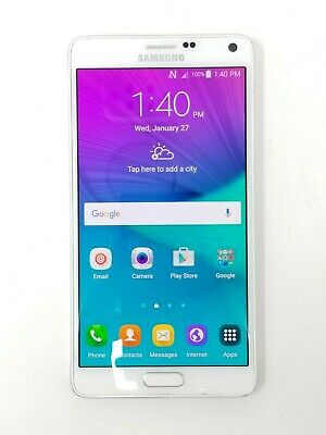 Samsung Galaxy Note 4 SM-N910W8 32GB - White (Bell/Virgin) - Fair Condition