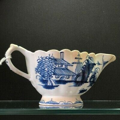 Bow sauce boat with pagoda pattern, C. 1770