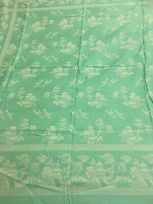 Vintage Tablecloth Linen  Oriental Willow Pattern