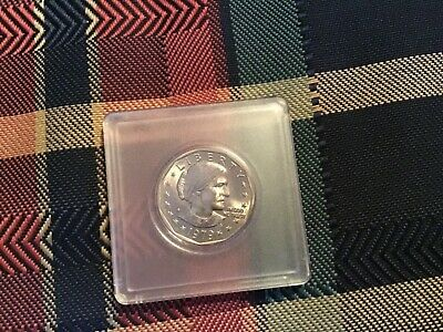 US $1 coin 1979 Susan B Anthony in display case