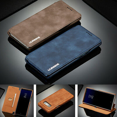 For Galaxy Note 9/8 S9 S8+ Luxury Leather Wallet Stand Thin Slim Skin Case Cover