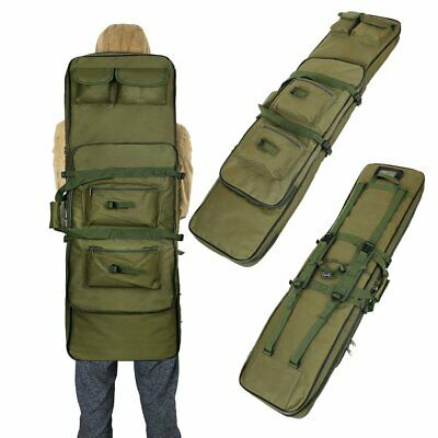 """47"""" 120CM Tactical Double Padded Carbine Rifle Gun Bag Hunting Backpack Grand"""