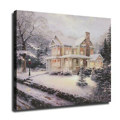 """12""""x14""""Christmas scenery HD Canvas prints Painting Home Decor Picture Wall art"""