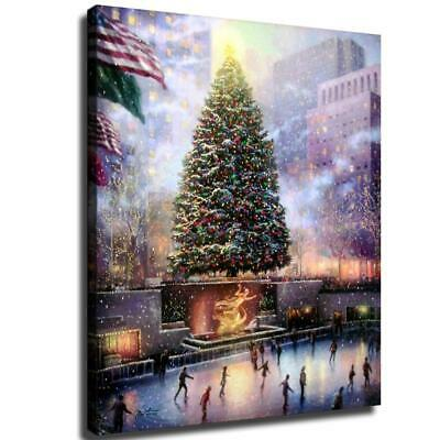 """12""""x14"""" Christmas tree HD Canvas prints Painting Home Decor Picture Wall art"""