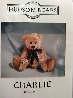 Charlie Teddy Bear Pattern by Hudson Bears and 1 free pattern