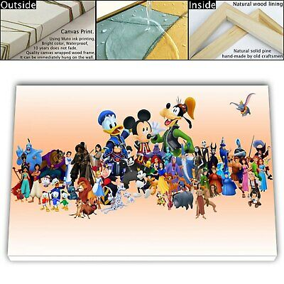 """16""""x26"""" Disney HD Canvas prints Framed Home decor Pictures Room Wall art Posters"""