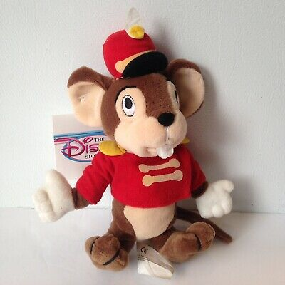 The Disney Store And Parks Dumbo's Timothy Mouse Stuffed Mini Bean Bag Plush Toy
