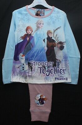 Disney FROZEN 2 Pyjamas / Girls ANNA & ELSA PJs Sizes 4-5, 5-6, 7-8 & 9-10 Years
