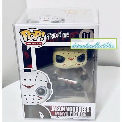 Funko Pop! Movies Friday The 13TH JASON VOORHEES (01) Figure W/ Pop Protector