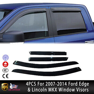 4pcs Out-Channel Visor Rain Guards For Lincoln MKS 2013-2016