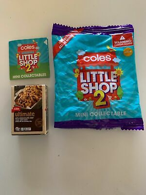 Coles Little Shop 2 Mini Coles Ultimate Choc Chip Cookies
