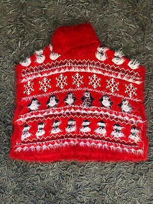 M &Co Girls Fluffy Christmas Jumper Age 9-10 Years