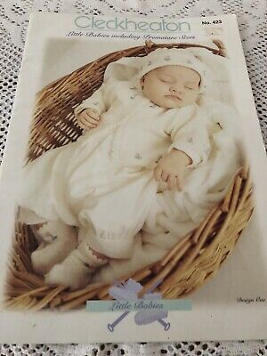 Cleckheaton Knitting Patterns No 423 Premature Little Babies Printed In Aust