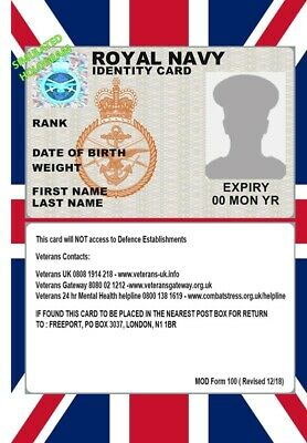 Uk Id Collector Cards <<Military>> Pvc