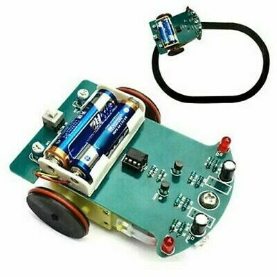 DIY Smart Tracking Robot Car Electronic Assembly Kit Withduction Motor New U1O1