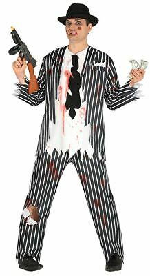 CA440 Mens Zombie Stand Out Stag Do Suit Halloween Walking Dead Skeleton Undead