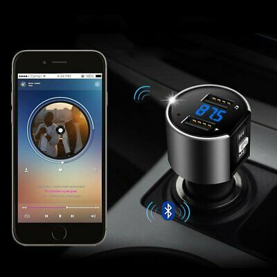 Wireless Bluetooth Car Kit FM Transmitter Radio MP3 Music Player With 2*USB Port