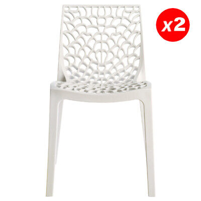 LOT DE 6 chaises empilables DIADEME Polypropylène Blanc