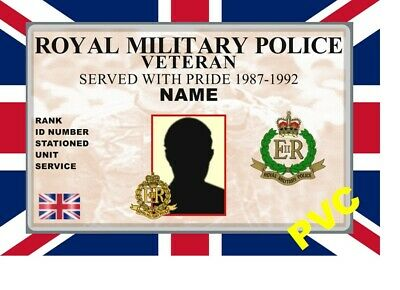 Uk Id Collector Cards <<Military Veteran>> Pvc