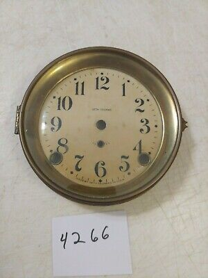 Antique Seth Thomas  Mantle Clock Dial And Bezel With Glass
