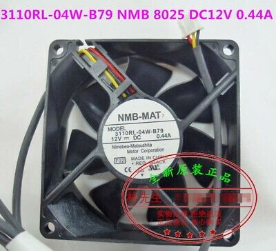 Original 3110KL-04W-B19 8cm 8025 80mm fan 80x80x25mm 12V 0.13A ultra quiet chassis power supply fan