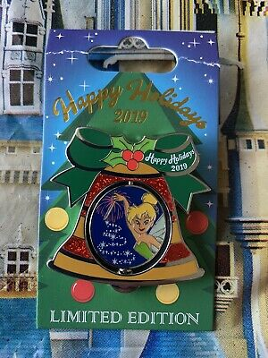2019 Disney Contemporary Resort Holiday Bell Pin LE 2000 Tinker Bell AS IS