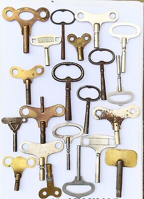 vintage Clock keys job lot