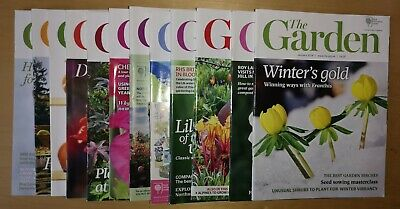 RHS The Garden Magazine - 12 Monthly Editions - YEAR 2014
